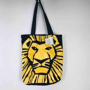Disney Womens Lion King Theater Tote Bag Black